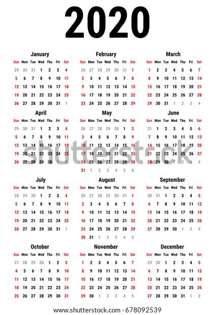 August kalender 2020