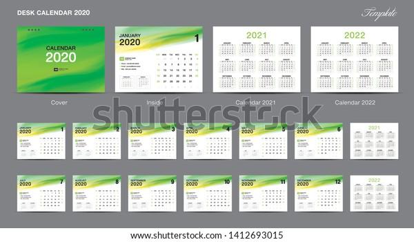 2022 Calendar Cover.Calendar 2021 Template Design Vector Desk Stock Vector Royalty Free 1412693015