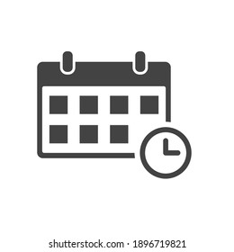 Calendar agenda icon isolated on white background. Planner vector illustration in flat style. Calendar business icon.