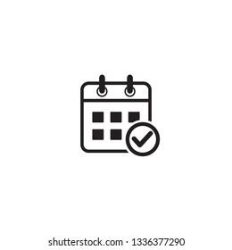 calendar, agenda, time schedule icon vector