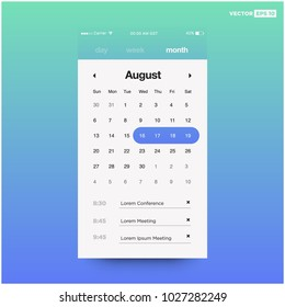 Calendar App With To Do List and Tasks UI UX Design For Mobile Phone
