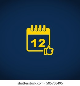 calendar approved date icon