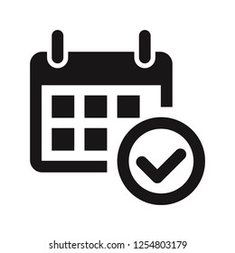 Calendar and approved icon vector
