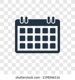 Calendar Checked vector icon isolated on transparent background, Calendar Checked transparency logo concept