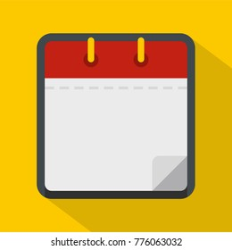 Calendar clean icon. Flat illustration of calendar clean vector icon for web