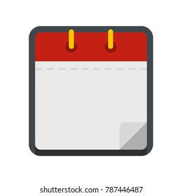 Calendar clean icon. Flat illustration of calendar clean vector icon isolated on white background