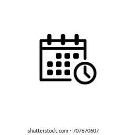 calendar, clock, vector icon