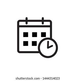 calendar and clock vector icons