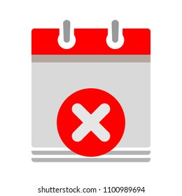 calendar date delete and close information icon - business office event sign, reminder icon