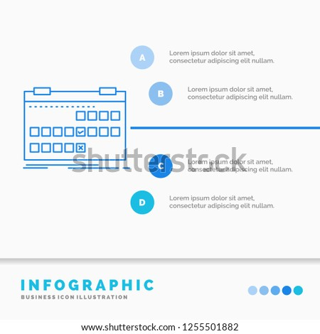 Calendar Date Event Release Schedule Infographics Stock Vector