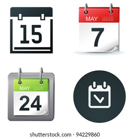 calendar and date icons and simple symbols