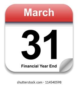 Calendar Date - March 31st (Vector)