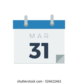Calendar with date vector illustration icon