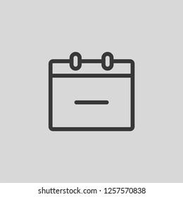 Calendar Delete Modern Simple UI Vector Icon