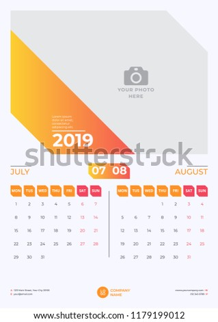 blank july and august 2019 calendar