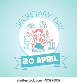Busy Secretary Images Stock Photos Vectors Shutterstock