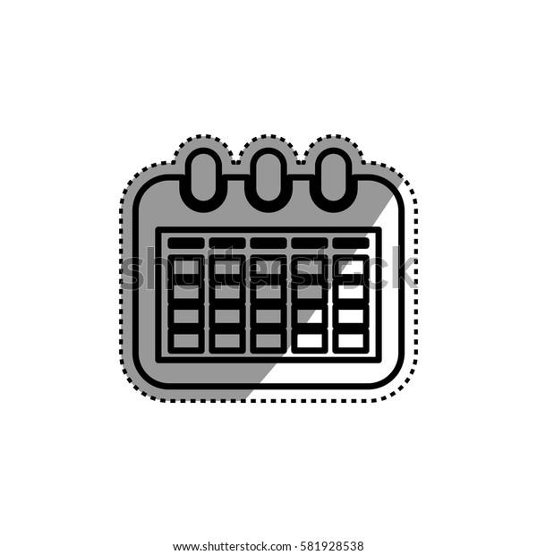 Calendar event symbol icon vector illustration graphic design