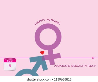 Calendar events of august - Congratulations for Women's Equality Day
