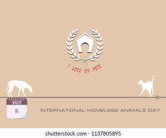 Calendar events of August - Congratulations for International Homeless Animals Day