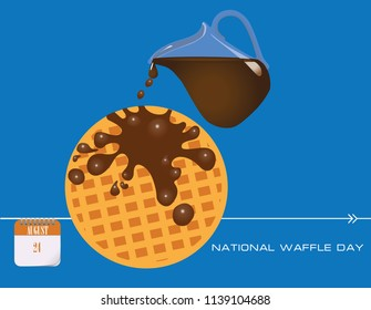 Calendar events of August - Congratulations for National Waffle Day
