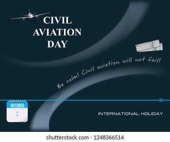 Calendar events of December - Congratulations for International Civil Aviation Day