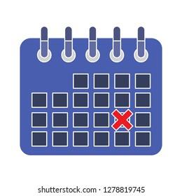 Calendar events icon- date symbol-agenda illustration-deadline vector-calender icon
