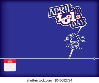 Calendar holiday of April - April Fool's Day Poster
