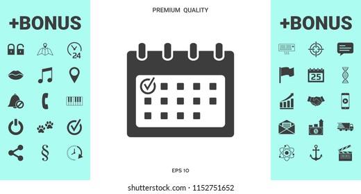 Calendar icon with check mark