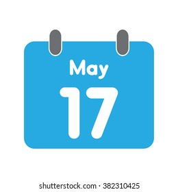 calendar icon flat May 17