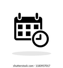 Calendar icon in flat style. Calendar symbol for your web site design, logo, app, UI Vector EPS 10.