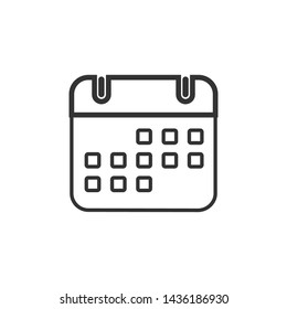 Calendar Icon Flat Vector Illustration