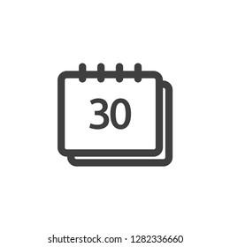 Calendar icon graphic design template simple illustration