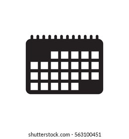 calendar icon illustration isolated vector sign symbol