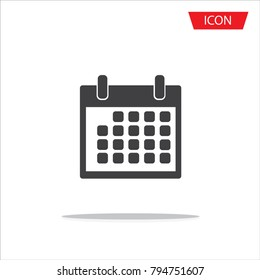 Calendar icon isolated on white background.