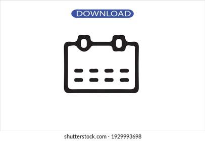 Calendar icon or logo high resolution