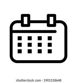 Calendar icon or logo isolated sign symbol vector illustration - high quality black style vector icons