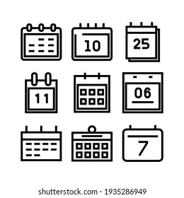 calendar icon or logo isolated sign symbol vector illustration - Collection of high quality black style vector icons