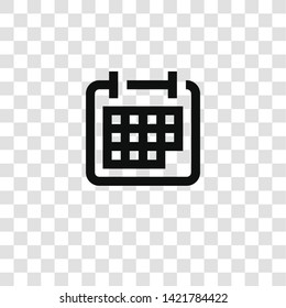 calendar icon from miscellaneous collection for mobile concept and web apps icon. Transparent outline, thin line calendar icon for website design and mobile, app development