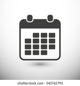 Calendar icon. One of set web icons
