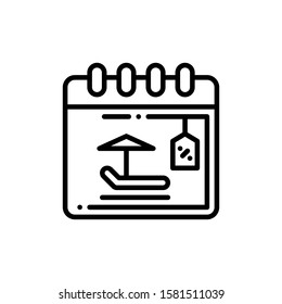 Calendar Icon Outline Vector. Holiday Sale Icons. Online Shop Ikon.