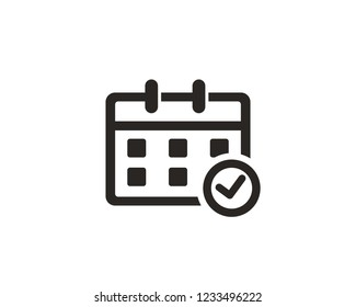 Calendar icon sign symbol