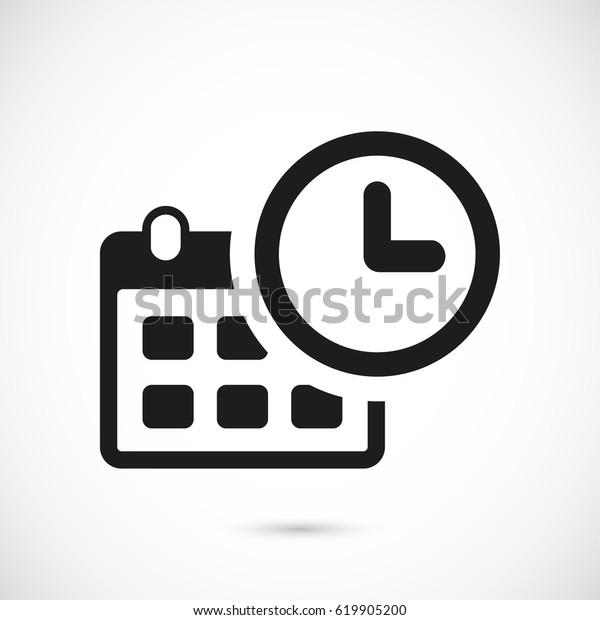 Vetor Stock De Icone De Calendario Estoque Desenho Plano Livre De