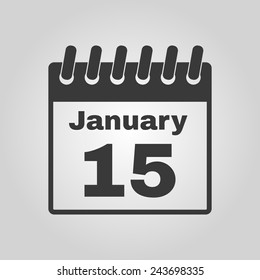 The calendar icon. Calendar symbol. Flat Vector illustration
