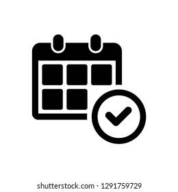 calendar icon symbol vector. on white background
