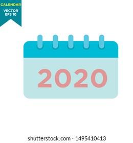 calendar icon in trendy flat design
