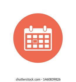 A calendar icon in trendy flat style . A sign of the calender for web site design, logo, app, UI. The symbol of a calendar. Vector illustration.