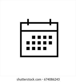 Calendar icon in trendy flat style isolated on background. Calendar icon page symbol for your web site design Calendar icon logo, app, UI. Calendar icon Vector illustration, EPS10.