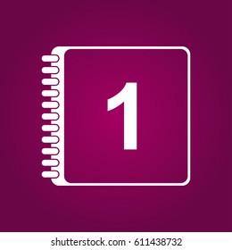 Calendar Icon in trendy. Calendar symbol for your web site design, logo, app, UI.