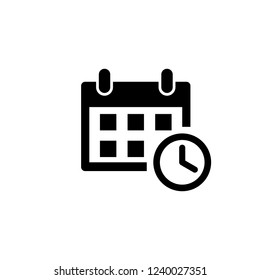 calendar icon vector. Calender symbol