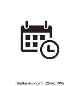 Calendar icon vector. Date and time symbol.